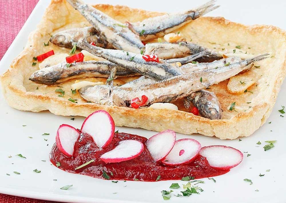 Tartaleta De Pescado, Tomate Y Queso